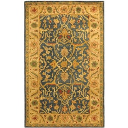 Safavieh Handmade Antiquities Mahal Blue/ Beige Wool Rug (3' x 5')