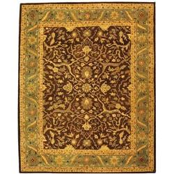 Safavieh Handmade Antiquities Mahal Brown/ Blue Wool Rug - 9'6 x 13'6 - Thumbnail 0