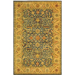 Safavieh Handmade Antiquities Mahal Blue/ Beige Wool Rug - 4' x 6' - Thumbnail 0