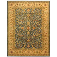 Safavieh Handmade Antiquities Mahal Blue/ Beige Wool Rug - 6' x 9'