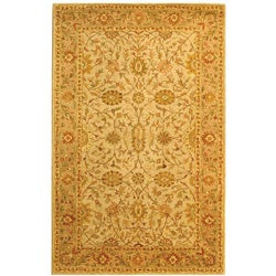 Safavieh Handmade Antiquities Kashan Ivory/ Beige Wool Rug (3' x 5')