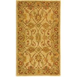 Safavieh Handmade Antiquities Kashan Ivory/ Beige Wool Runner (2'3 x 4') - Thumbnail 0