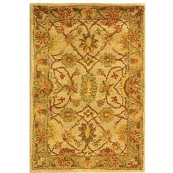 Safavieh Handmade Antiquities Kashan Ivory/ Beige Wool Rug (2' x 3')