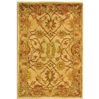 Safavieh Handmade Antiquities Kashan Ivory/ Beige Wool Rug - 2' x 3'