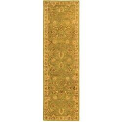 Safavieh Handmade Old World Light Green/ Ivory Wool Runner (2'3 x 12')