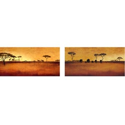 Tandi Venter 'Serengeti' 2-piece Canvas Set