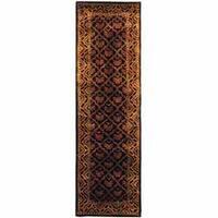 Safavieh Handmade Classic Tress Chocolate Wool Runner Rug