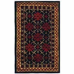 Safavieh Handmade Classic Agra Green/ Apricot Wool Rug (3' x 5')