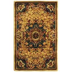 Safavieh Handmade Classic Empire Light Blue/ Ivory Wool Rug (3' x 5')