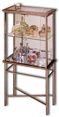 Metal and Glass Curio Cabinet
