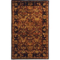 Safavieh Handmade Treasured Dark Plum Wool Rug - 3' x 5'