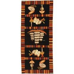 Safavieh Hand-hooked Explorer Black Wool Rug - 6' x 9' - Thumbnail 0