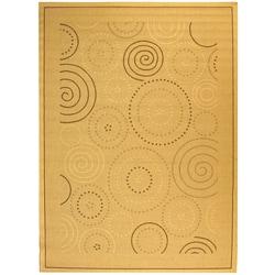 Safavieh Ocean Swirls Natural/ Brown Indoor/ Outdoor Rug - 7'10 x 11' - Thumbnail 0