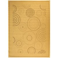 Safavieh Ocean Swirls Natural/ Brown Indoor/ Outdoor Rug - 8' x 11'