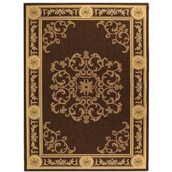 Safavieh Sunny Medallion Chocolate/ Natural Indoor/ Outdoor Rug (5'3 x 7'7)