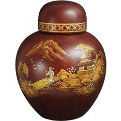 Handmade Red Crackle Ginger Jar (China) - Thumbnail 0