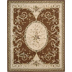 Nourison Hand-tufted Brilliante Persian Wool Rug (7'3 x 9'9) - Thumbnail 0