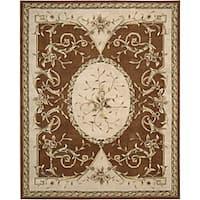 Nourison Hand-tufted Brilliante Persian Wool Rug (7'3 x 9'9)