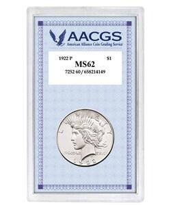 American Coin Treasures 1922 Peace Dollar Coin