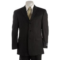 Austin Reed London Men S Black Pinstripe Suit Overstock 3259714