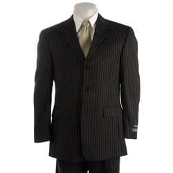 Austin Reed London Men S Black Pinstripe Suit Overstock 3259714