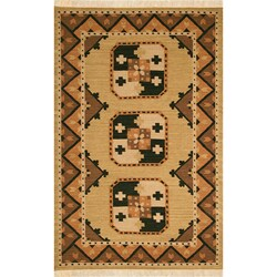 Hand-woven Chocolate Wool Rug (5' x 8')