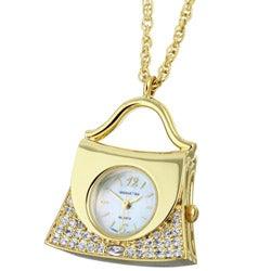 Manhattan 'Handbag' Pendant Quartz Necklace - Thumbnail 0