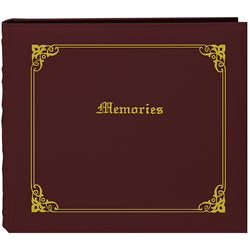 Pioneer 'Memories' 12x12 Burgundy Memory Book Binder with 40 Bonus Pages