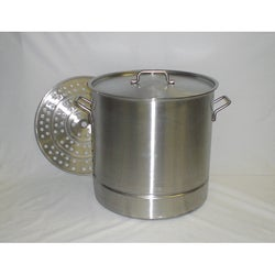 Stainless Steel 53-quart Stock Beer Brewing Pot with Steamer Rack