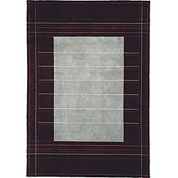 Nourison Home Hand-knotted Wine Wool and Silk Rug (8'3 x 11')