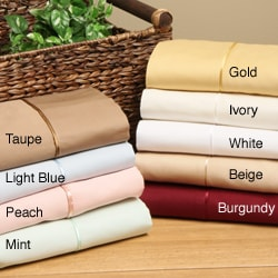 Superior Cotton 300 Thread Count Solid Sheet Set - Thumbnail 0