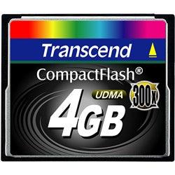 Transcend 4GB 300x CompactFlash Memory Card
