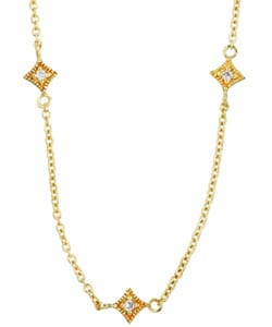 14k Gold over Silver 18-inch CZ Necklace