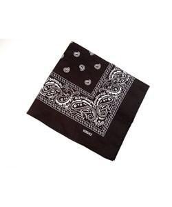 Shop Versace Women S Black Cotton Foulard Bandana Free Shipping