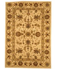 Safavieh Handmade Traditions Isfahan Ivory Wool and Silk Rug - 4' x 6'