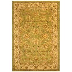 Safavieh Handmade Old World Light Green/ Ivory Wool Rug (8'3 x 11')