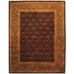 Safavieh Handmade Classic Tress Chocolate Wool Rug (7'6 x 9'6)