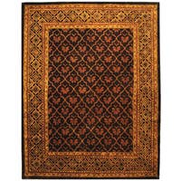 Safavieh Handmade Classic Tress Chocolate Wool Rug - 7'6 x 9'6