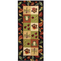 Safavieh Hand-hooked Backyard Multicolor Wool Runner (2'6 x 6')