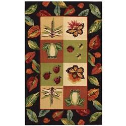 "Safavieh Hand-hooked Backyard Multicolor Wool Rug - 1'8"" x 2'6"" - Thumbnail 0"