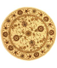 Safavieh Handmade Traditions Isfahan Ivory Wool and Silk Rug - 6' x 6' Round