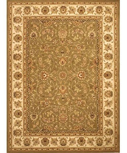 Safavieh Handmade Isfahan Sage/ Ivory Wool and Silk Rug (8' x 11')