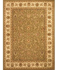 Safavieh Handmade Isfahan Sage/ Ivory Wool and Silk Rug - 8' x 11'