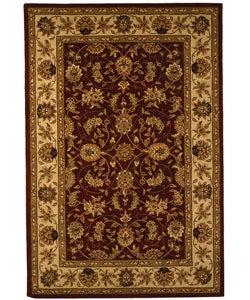 Safavieh Handmade Isfahan Burgundy/ Ivory Wool and Silk Rug - 5' x 8' - Thumbnail 0