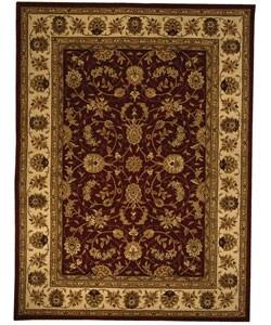 Safavieh Handmade Isfahan Burgundy/ Ivory Wool and Silk Rug (8' x 11')