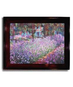 Garden de Giverny by Monet Framed Canvas