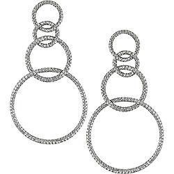 Miadora Signature Collection 18k White Gold 2 1/2ct TDW Diamond Earrings