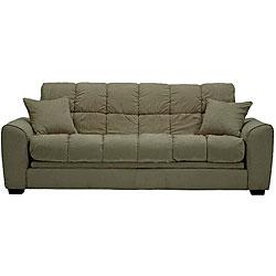Shop Ross Grey Sage Microfiber Futon Sofa Bed Free