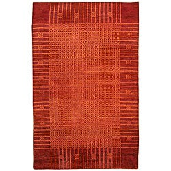 Pakistani Hand-knotted Red Ancestry Rug (5' x 8')