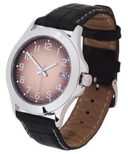 Thumbnail 1, Calibre Metallic Copper Dial Leather Strap Watch.